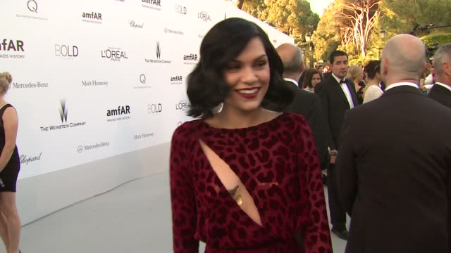 Jessie J at 2012 amfAR's Cinema Against AIDS on May 24 2012 in Cannes France