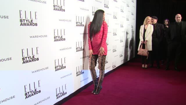 jessie j at elle style awards arrivals at one embankment on february 18 2014 in london england - embankment stock videos and b-roll footage