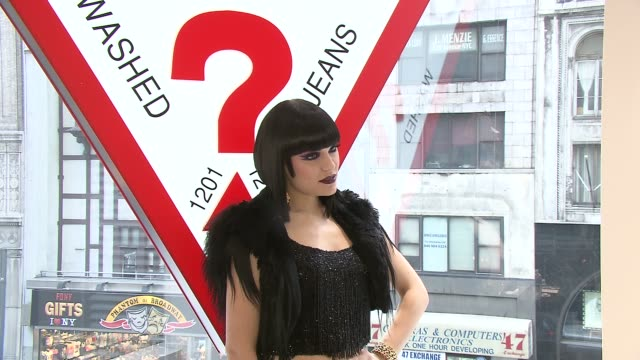 jessie j at the guess and vanity fair celebrate the grand opening of the new 5th avenue flagship store with live performance by jessie j at new york... - store opening stock videos & royalty-free footage