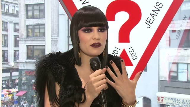 jessie j talks about how exciting it is to perform at the guess flagship store her favorite guess pieces in her wardrobe her style advice to guys and... - store opening stock videos & royalty-free footage