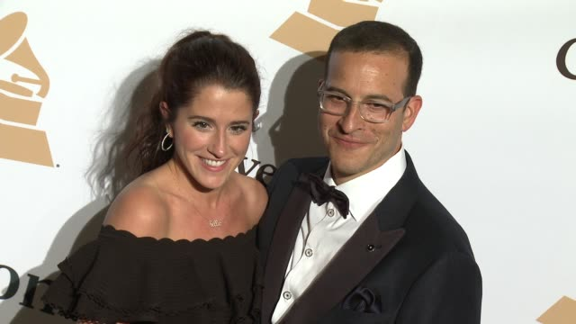 stockvideo's en b-roll-footage met jessie muscio and doug davis at the 2016 pregrammy gala and salute to industry icons honoring irving azoff at the beverly hilton hotel on february 14... - irving azoff