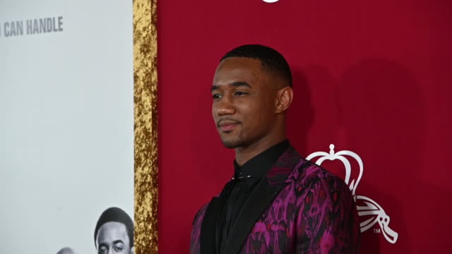 jessie t usher at the shaft new york premiere at amc lincoln square theater on june 10 2019 in new york city - filmpremiere stock-videos und b-roll-filmmaterial