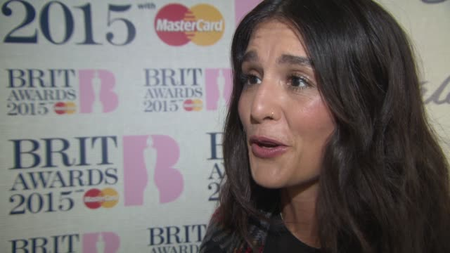 chyron jessie ware on featuring on the 'fifty shades of grey' soundtrack her hopes on where the song would feature at brit nominations launch brit... - soundtrack stock videos & royalty-free footage