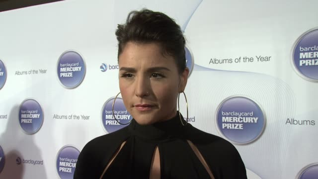jessie ware on who is going to win, on her album and on being at the mercury prize at barclaycard mercury music prize 2012 at the roundhouse on... - mercury music prize stock-videos und b-roll-filmmaterial