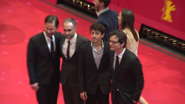 Jesuita Barbosa Karim Ainouz Wagner Moura Clemens Schick at Closing Ceremony Golden Bear Awards at Berlinale Palast on February 15 2014 in Berlin...