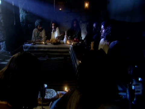 jesus and his disciples at the last supper - historical reenactment stock videos & royalty-free footage