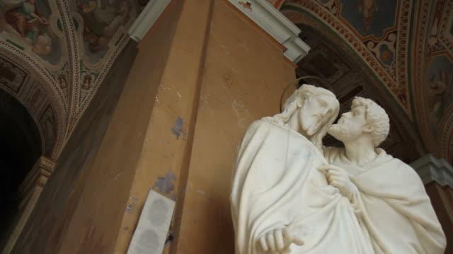 jesus and judas at the scala santa in rome - judas iscariot stock videos & royalty-free footage