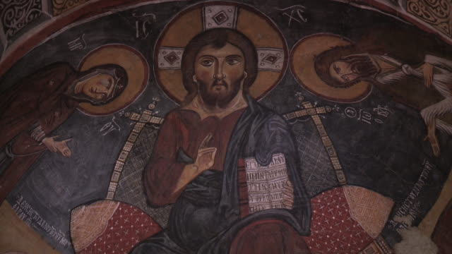 Jesus Christ Artwork, Cappadocia, Turkey