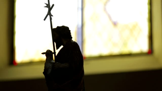 jesus christ on the cross - stock footage - resurrection religion stock videos & royalty-free footage