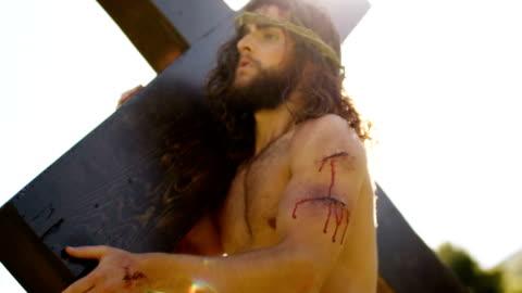 jesus kristus - kors religiös symbol bildbanksvideor och videomaterial från bakom kulisserna
