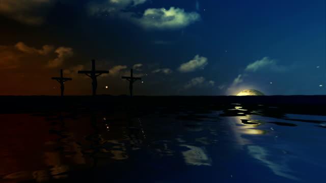 jesus crucifiction - resurrection religion stock videos & royalty-free footage