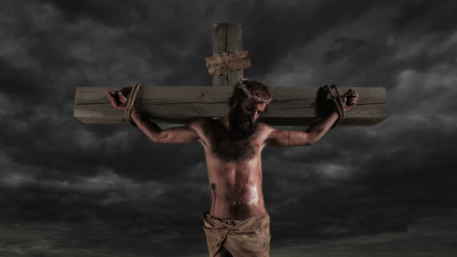Jesus dies on the cross lightning stikes