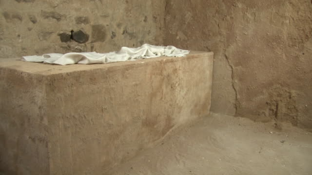 Jesus' Empty tomb inside, Easter Sunday story, Resurrection