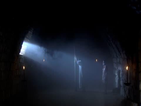 jesus is held prisoner by roman soldiersprior to crucifixion - prisoner stock videos and b-roll footage