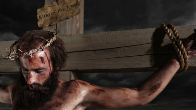jesus on the cross - cross stock videos & royalty-free footage