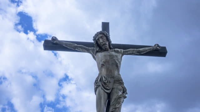 jesus on the cross - religious cross stock videos and b-roll footage