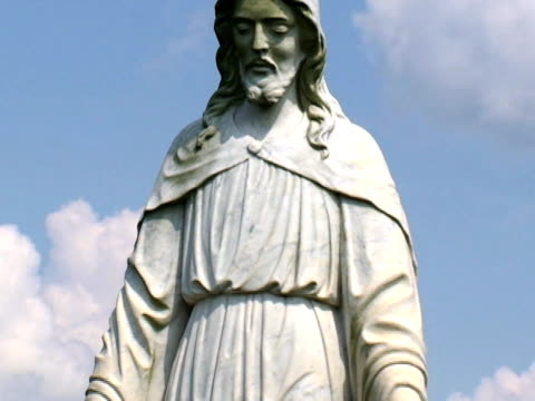 jesus statue in cemetery - male likeness stock videos & royalty-free footage