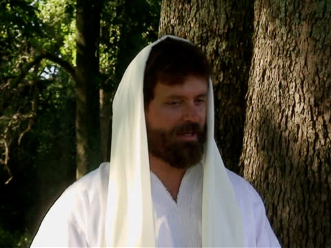 vídeos de stock, filmes e b-roll de jesus ensino e sorrindo - israel