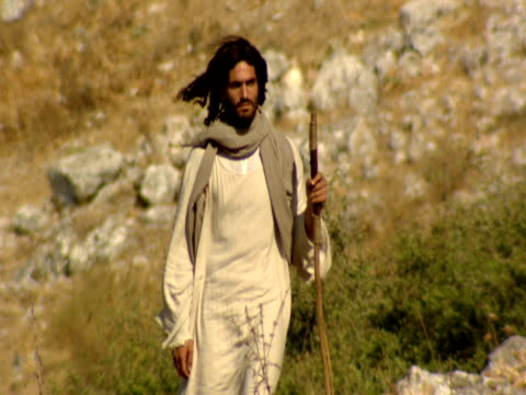 jesus walking in mount arbel - biblical event stock videos & royalty-free footage