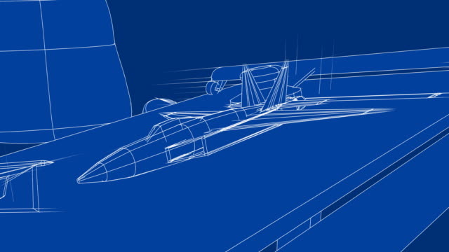 jet blueprint on drafting table - air vehicle stock videos & royalty-free footage