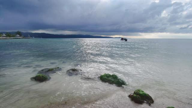 jet boating a montego bay giamaica caraibi - acquascooter video stock e b–roll