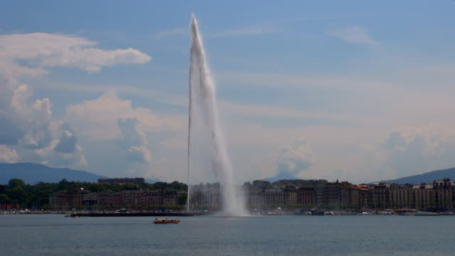 jet d'eau - geneva, switzerland - fountain stock videos and b-roll footage