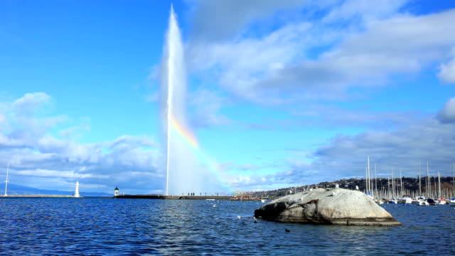 Fontäne im Genfer See