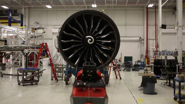 jet engines for commercial aviation are tested at the ge aviation test operations facility in peebles ohio us on tuesday april 14 2015 shots a ge... - general electric stock videos and b-roll footage