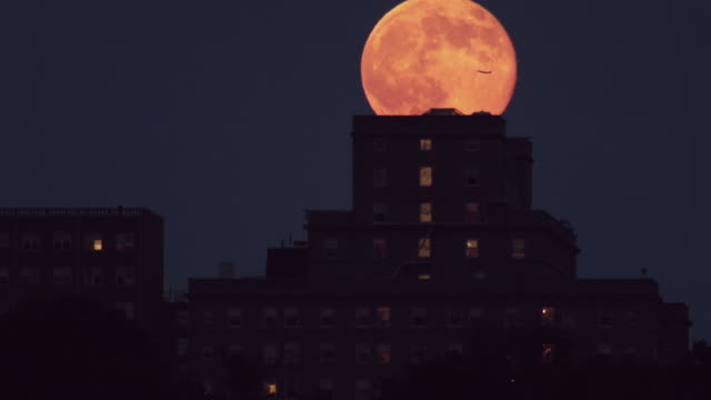 jet fly over over moon and nyc - jackson new jersey stock videos and b-roll footage