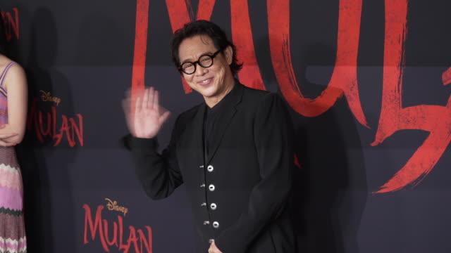 jet li at the world premiere of disney's mulan - gif stock videos & royalty-free footage