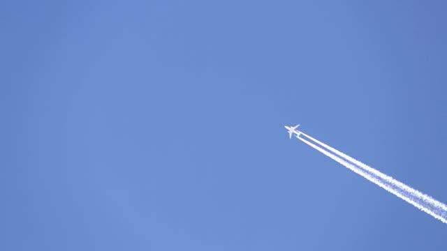 Jet plane in the sky.