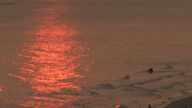 jet ski tramonto - acquascooter video stock e b–roll