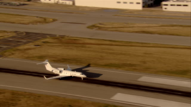 MS jet taking off, Van Nuys airport, California, USA