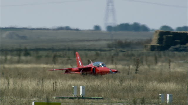 jet trainer - aerial view - castille and león, valladolid, spain - instructor stock videos & royalty-free footage