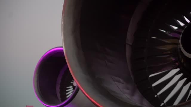 jet turbine in loop - cargo aeroplane stock videos & royalty-free footage