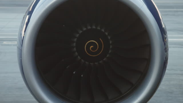 Jet Turbine on Grounded Plane