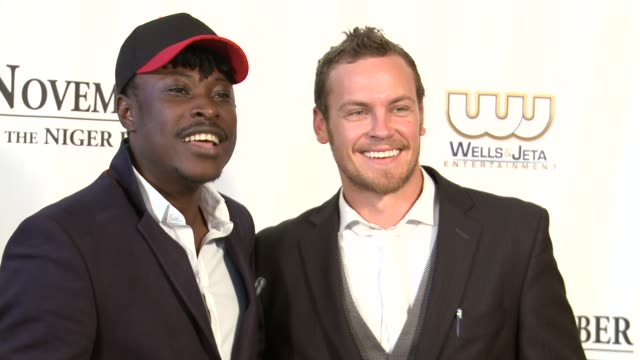 jeta amata and nathin butle at black november screening in washington dc at the john f kennedy center for performing arts on may 08 2012 in... - john f. kennedy center for the performing arts stock videos and b-roll footage