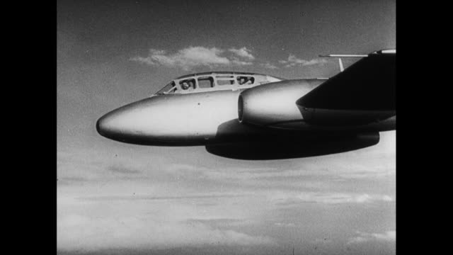 jets fly past; 1952 - aeroplane stock videos & royalty-free footage