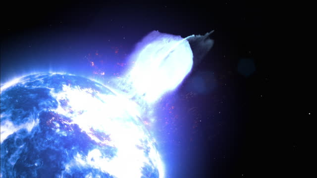 jets of plasma explode and burn in space. - 超新星点の映像素材/bロール