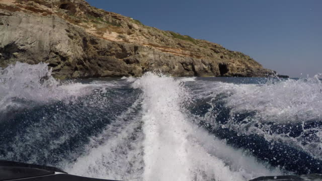 jetski rear pov - boat point of view stock videos & royalty-free footage