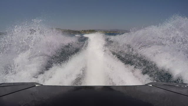 jetski rear wake  pov - wake water stock videos & royalty-free footage