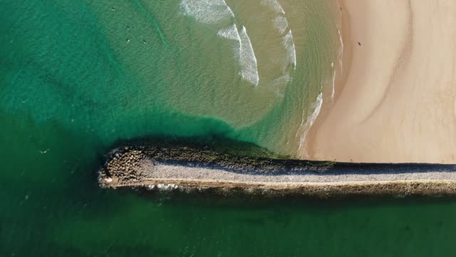 jetty and beach as seen from above - jetty stock videos & royalty-free footage