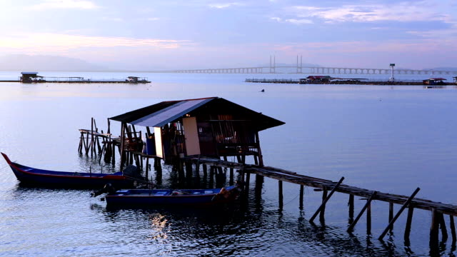 jetty georgetown penang island malaysia - penang stock videos and b-roll footage