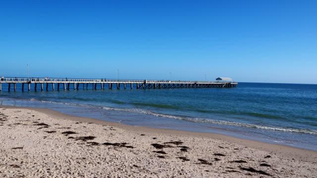 jetty - henley beach, australia - digital enhancement stock videos & royalty-free footage
