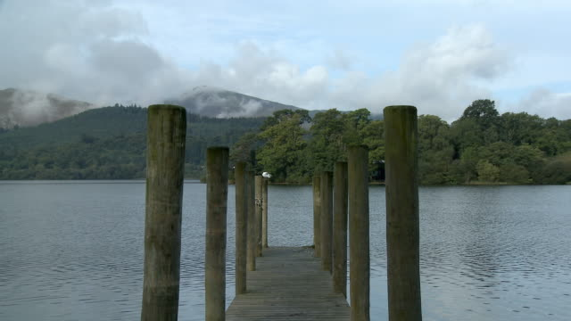 MS, Jetty on Derwent Water, Lake District National Park, Cumbria, England