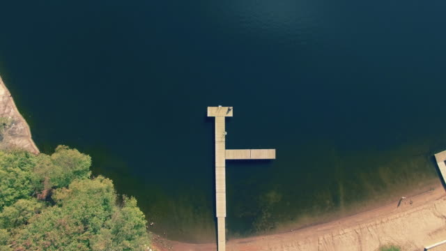 Jetty on Lake in Sweden