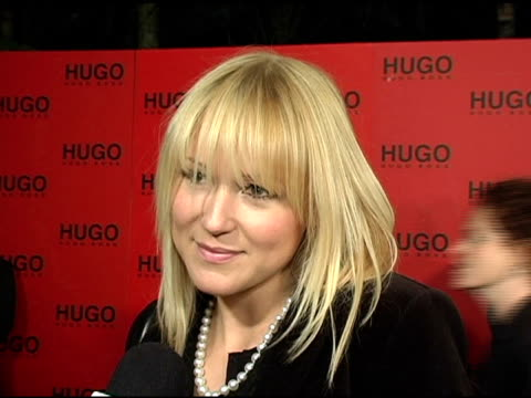 jewel on why she came to support hugo boss, her first hugo piece of clothing, why she likes the style and look of hugo clothing and on upcoming... - hugo boss stock-videos und b-roll-filmmaterial