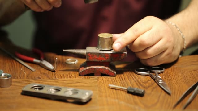 jeweler. jewelry repair shop. - ring stock videos and b-roll footage