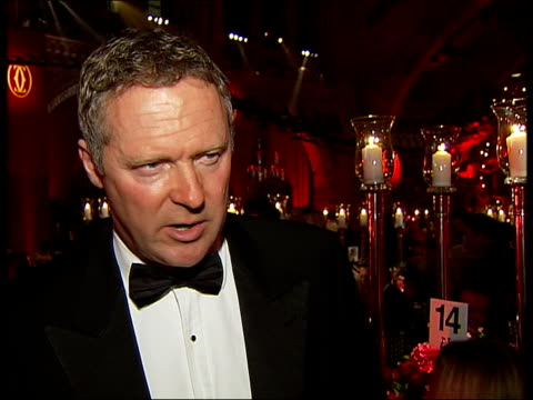 jewellers cartier throw party for wealthy customers; int rory bremner talking with other guests/ rory bremner interview sot - rory bremner stock videos & royalty-free footage