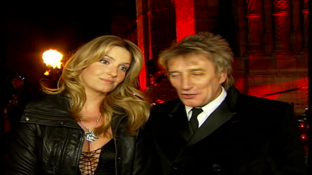 jewellers cartier throw party for wealthy customers; penny lancaster and rod stewart interview sot - cartier stock videos & royalty-free footage